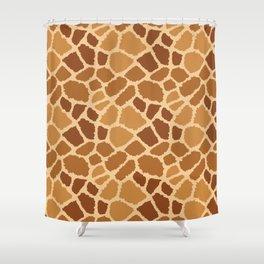 Giraffe Fur Texture Shower Curtain