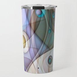 Digital Abstract Travel Mug
