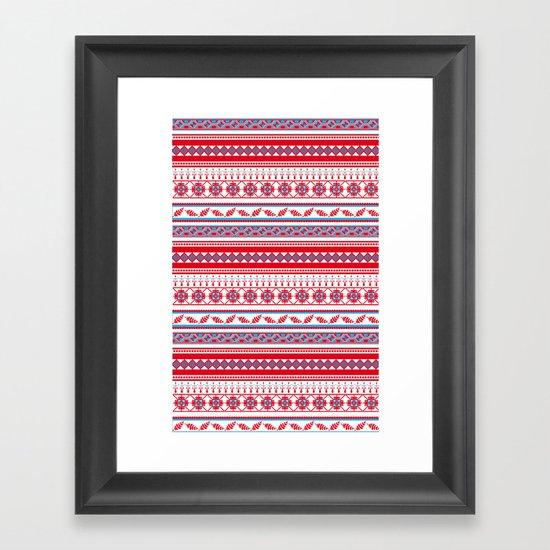 Eastern Lines Framed Art Print