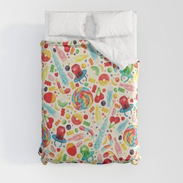 Candy Pattern - White Duvet Cover