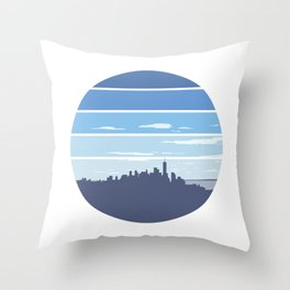 New York in the Spring Throw Pillow