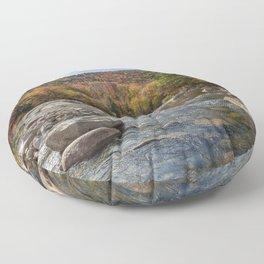Saco River in Fall Floor Pillow