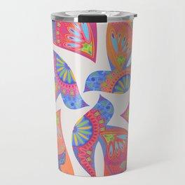 3 Birds Playing Travel Mug