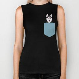 Shiloh - Husky Siberian Husky dog art phone case perfect gift for dog people Biker Tank