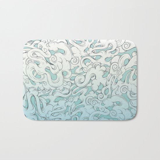 Entangled Clouds Bath Mat
