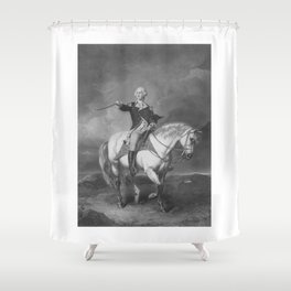 Washington Receiving A Salute At Trenton Shower Curtain