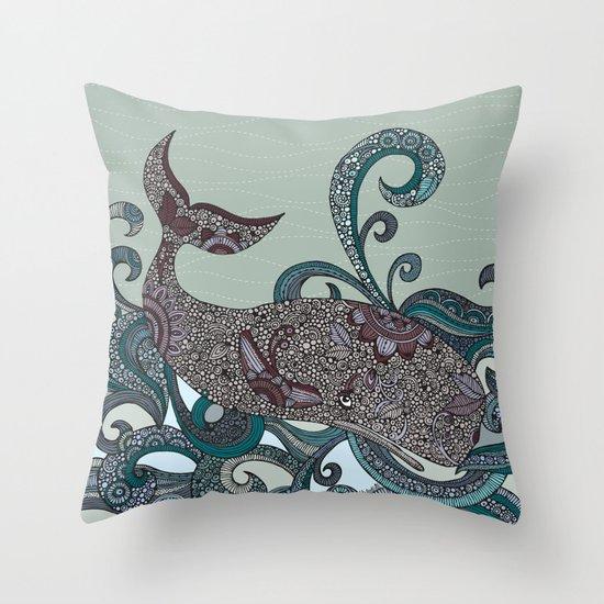 Deep Blue Throw Pillows : Deep Blue Me Throw Pillow by Valentina Harper Society6