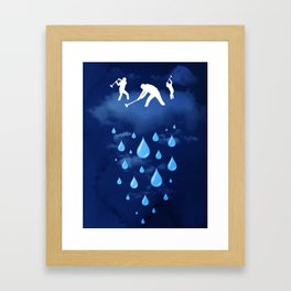 Right as Rain Framed Art Print
