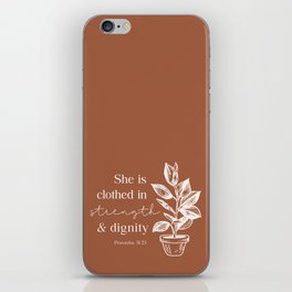 Clothed in Strength and Dignity  iPhone Skin