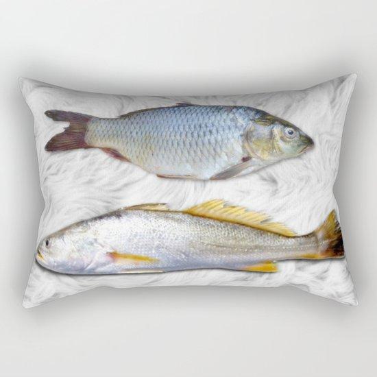 Fish on Fur Rectangular Pillow