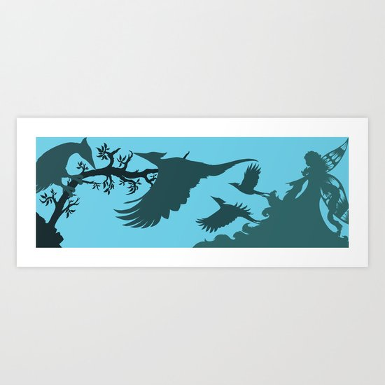 Pinocchio and the Blue Fairy 3 Art Print