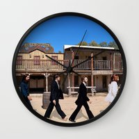 downton abbey Wall Clocks featuring Abbey road by eARTh