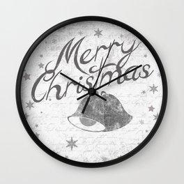 Merry Christmas Jingle Bells Wall Clock