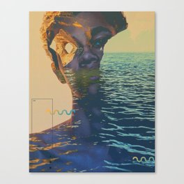 Erosion wave Canvas Print