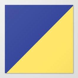 Modern royal blue sunshine yellow trendy color block Canvas Print
