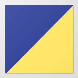 Modern royal blue sunshine yellow trendy color block Canvas Print