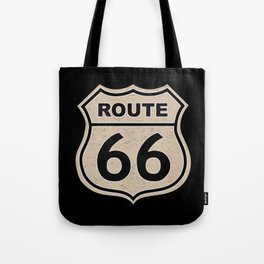 Route 66 sign illustration Tote Bag