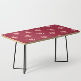 Crazy Happy Uterus in Red, Large Coffee Table
