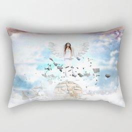 Archantael silver angel by GEN Z Rectangular Pillow