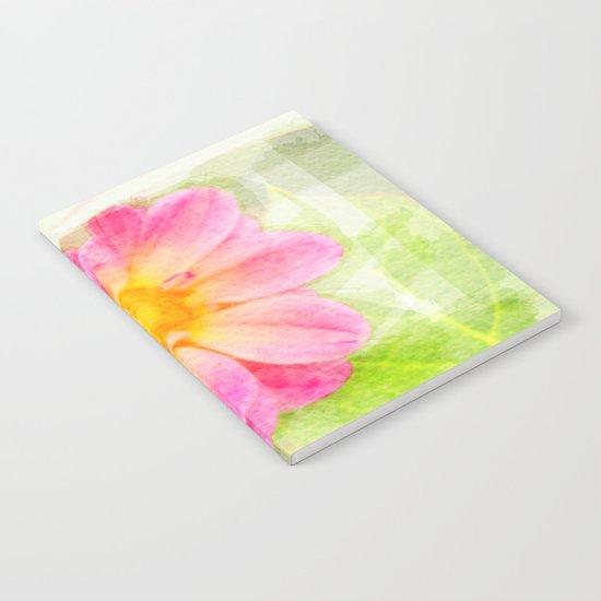Pink Pastel Watercolor Flower Notebook
