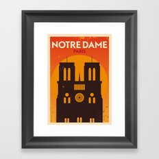 Paris City Retro Poster Framed Art Print