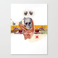 boob Canvas Prints featuring The Boob by Molokid