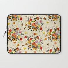 Butterfly Bouquet on Raw Silk Laptop Sleeve
