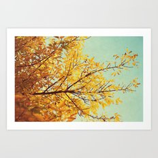 in the land of autumn Art Print