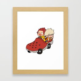 Kirishima and Bakugo Croc Car Framed Art Print