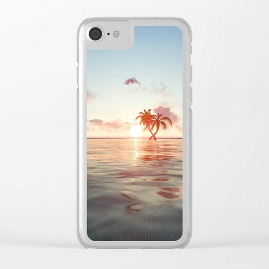 Island in the distance Clear iPhone Case