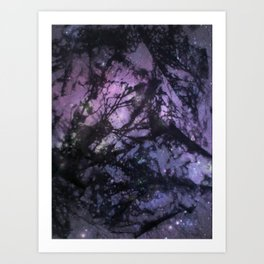 Night Sky (Monoprint) Art Print