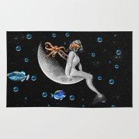 mermaid Area & Throw Rugs featuring Mermaid by Cs025