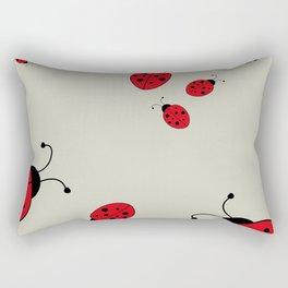 Ladybugs-Beige+Red Rectangular Pillow