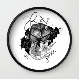 Rat in Peace Wall Clock