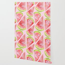 Watercolor Watermelon Slices Wallpaper