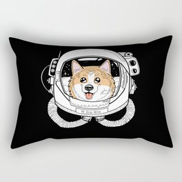 Space Corgi Rectangular Pillow