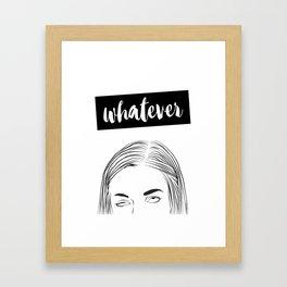 Whatever Illustration Framed Art Print