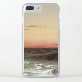Martin Johnson Heade - Seascape Sunset Clear iPhone Case