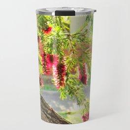 Red Bottle Brush Travel Mug
