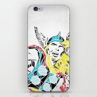 thor iPhone & iPod Skins featuring Thor by Josh Ln