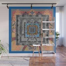 Trefoil Boujee Boho Sacred Geometric Portal Print Wall Mural