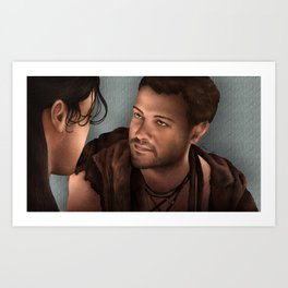Nagron First Kiss (Agron, Spartacus) Color Version Art Print