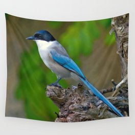 Azure-winged Magpie Wall Tapestry