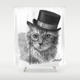Monsieur Mack Shower Curtain