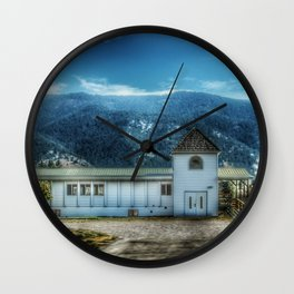 Old Country Church Wall Clock