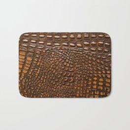 Alligator skin texture Bath Mat