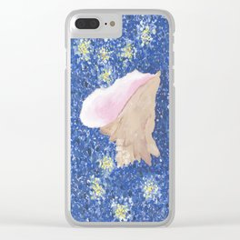 Conch Republic Flag Painting Clear iPhone Case