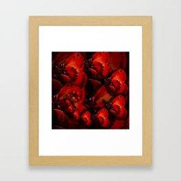 Inner Glow 4 Spiral Red Framed Art Print
