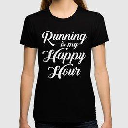 Running Is My Happy Hour T-shirt