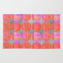 orange dots grunge mixed media modern pattern Rug